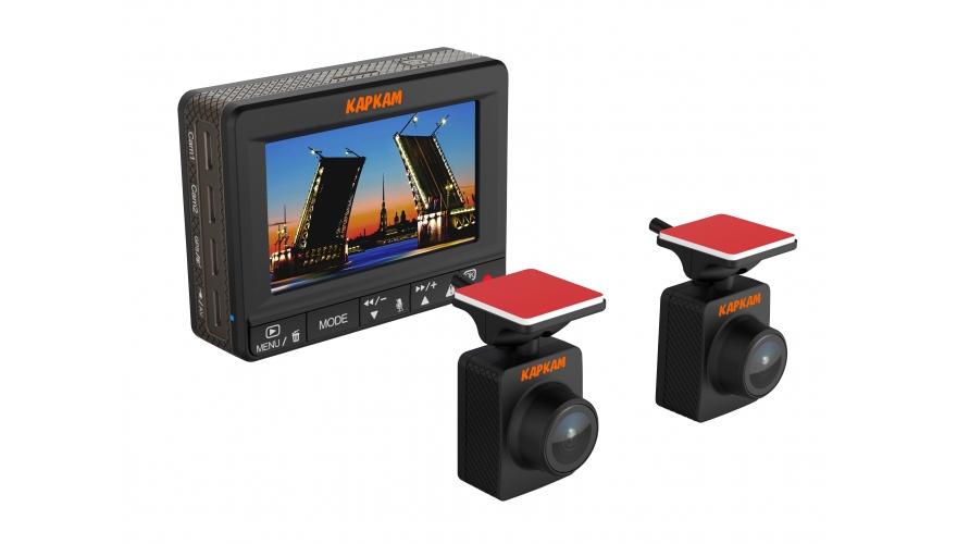 Видеорегистратор с двумя FullHD камерами Каркам Дуо